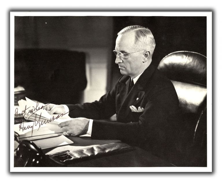 Original Photograph Inscribed by President Truman. HARRY S. TRUMAN.