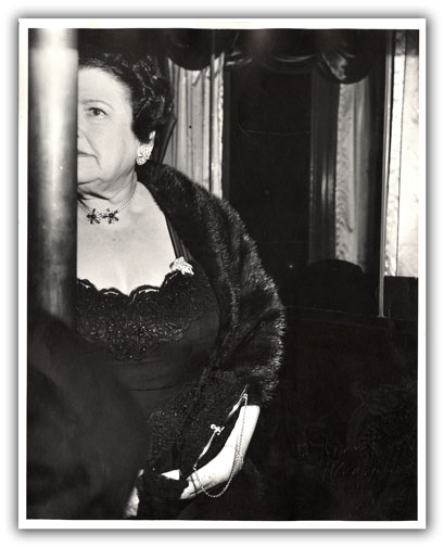 Original Photograph of Louella Parsons [At the Opera]