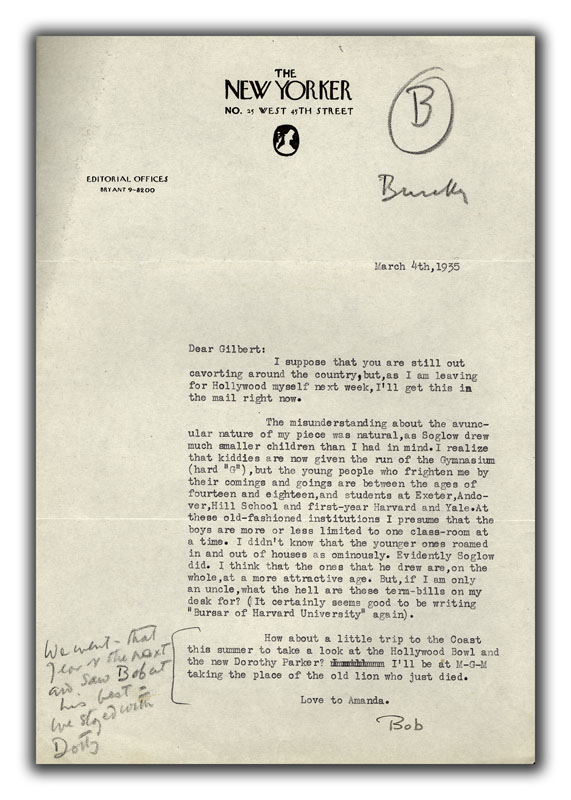 Two Typed Letters Signed to Gilbert Seldes
