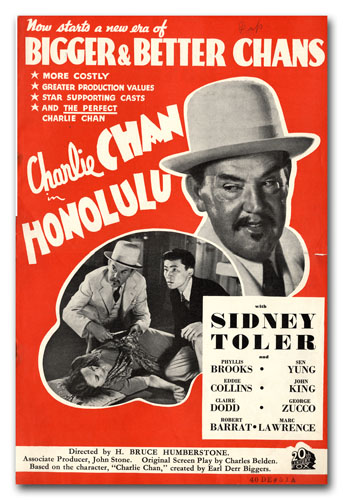 A Collection of Promotional Literature for 23 Charlie Chan Films