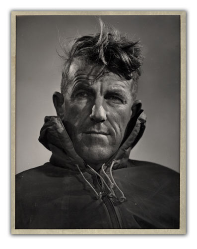 Original Silver Gelatin Photograph of Sir Edmund Hillary