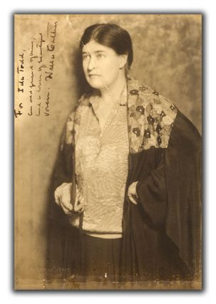 Portrait Photograph Signed. WILLA CATHER