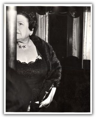 Original Photograph of Louella Parsons [At the Opera]. PHOTOGRAPHY, WEEGEE.