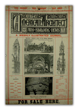Original Folder and Display for the American Architect and Building News. ARCHITECTURE, ANONYMOUS