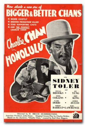 A Collection of Promotional Literature for 23 Charlie Chan Films. EARL DERR BIGGERS, TWENTIETH...